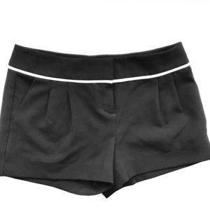 Black Pleated Dress Shorts